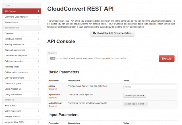 cloudconver_API_Console